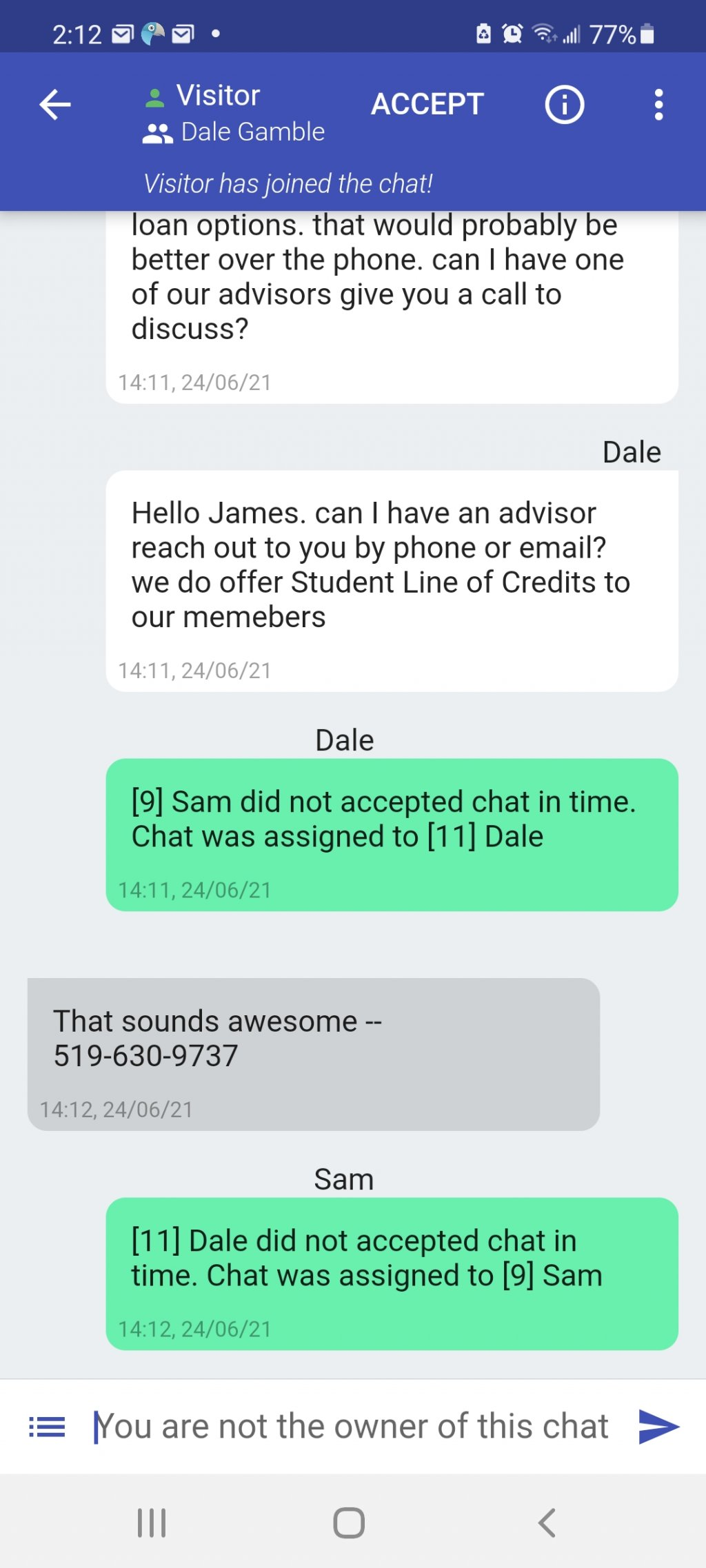 chat auto assignment